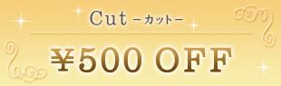 カット500円引きクーポン
